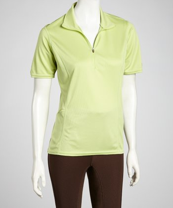 Celery Venti Short Sleeve Polo - Women