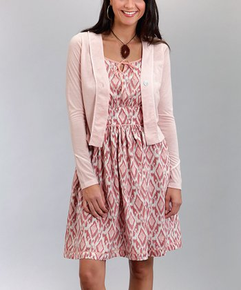 Pink Embroidered Cardigan - Women & Plus