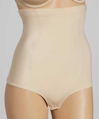 Nude High-Waisted Shaper Thong - Women & Plus