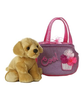Labrador Plush Toy & 'Cool' Carrying Case
