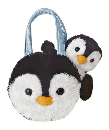 Penny The Penguin Plush Toy & Carrying Case