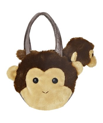 Monkey Plush Toy & Carrying Case