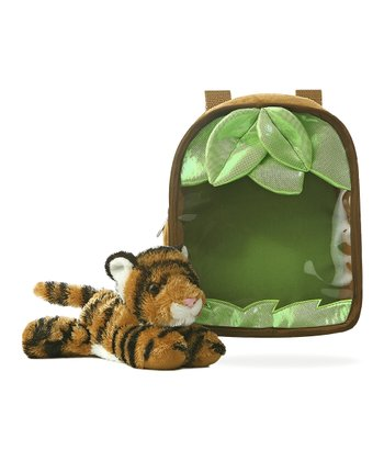 Tiger Plush Toy & Jungle Carrying Case