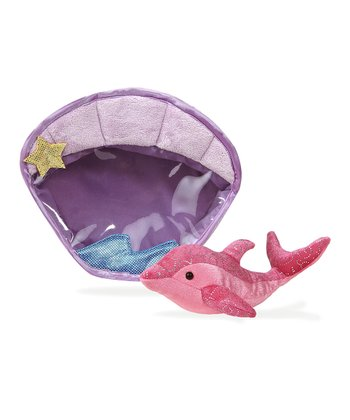 Dolphin Plush Toy & Clamshell Carrying Case
