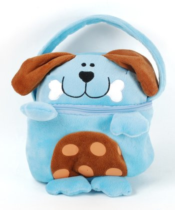Blue Puppy Lunch Sack