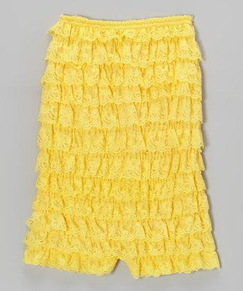 Yellow Lace Ruffle Romper - Infant & Toddler