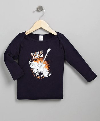 Navy Play it Loud Long-Sleeve - Infant, Toddler & Boys