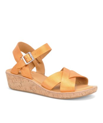 Orange Metallic Myrna Sandal