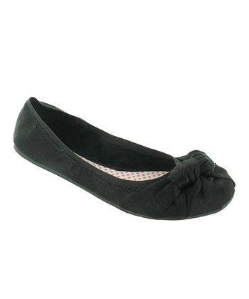 Black Brushed Amery Ballet Flat