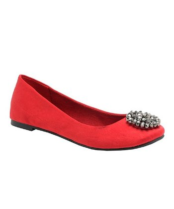 Ruby Brushed Madra Ballet Flat