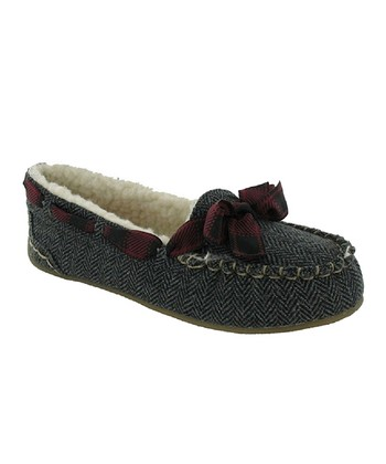 Gray Twinings Tweed Regan Slipper