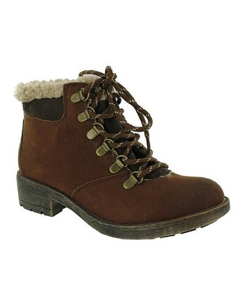 Rust Double Face Timber Ankle Boot