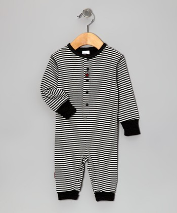 Gray Stripe Little Star Organic Playsuit - Infant