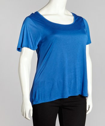 Royal Crisscross Back Top - Plus