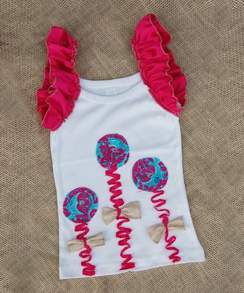 Coral Flower Ruffle Tank - Infant, Toddler & Girls