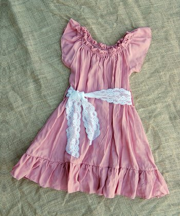 Dusty Rose Peasant Dress - Infant, Toddler & Girls