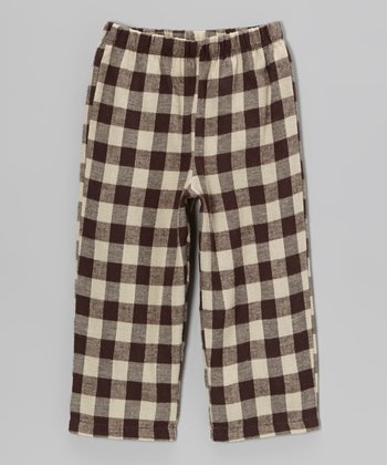 Brown & Cream Plaid Pants - Infant, Toddler & Girls