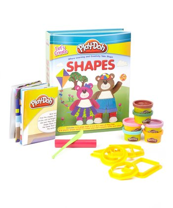PLAY-DOH Let's Create: Shapes Board Book Activity Set