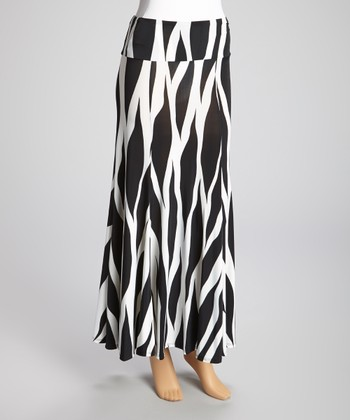 Black & White Zebra Maxi Skirt
