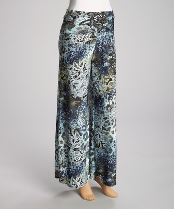 Blue Jungle Palazzo Pants