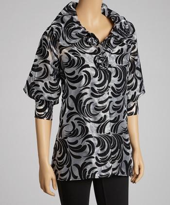 Silver & Black Flourish Jacket