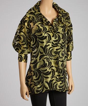 Gold & Black Flourish Jacket