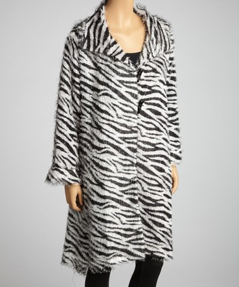 White & Black Zebra Coat