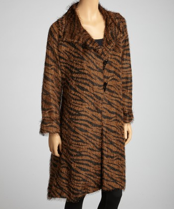 Brown & Black Zebra Coat