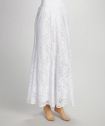 White Lace Maxi Skirt