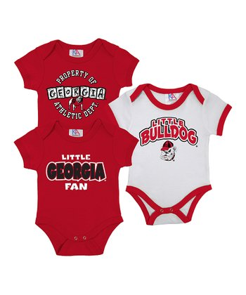 & White Georgia Short-Sleeve Bodysuit Set - Infant