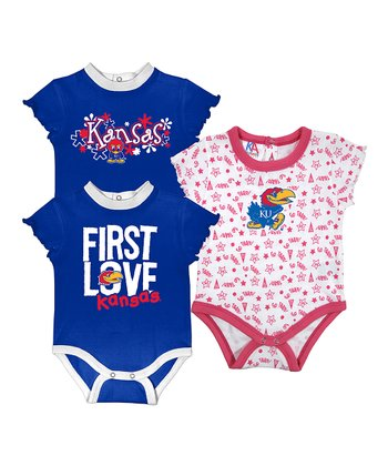 Royal & Deep Pink Kansas Short-Sleeve Bodysuit Set - Infant