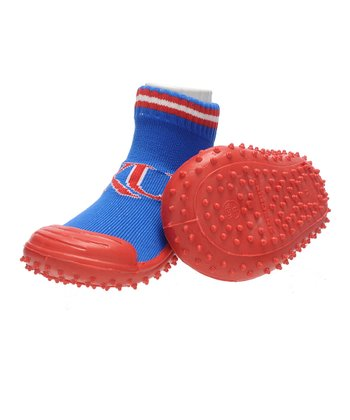 Blue & Red Kansas Gripper Shoe - Kids