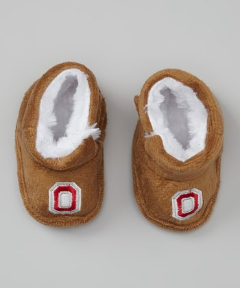 Brown Ohio State Buckeyes Snuggle Booties