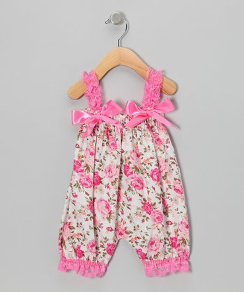Pink Rose Bubble Romper - Infant & Toddler