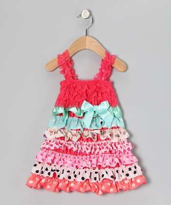 Strawberry Polka Dot Ruffle Dress - Infant & Toddler