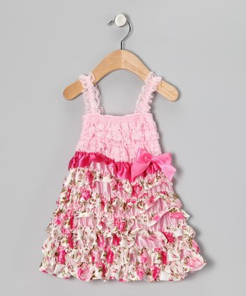 Pink Rose Ruffle Dress - Infant, Toddler & Girls