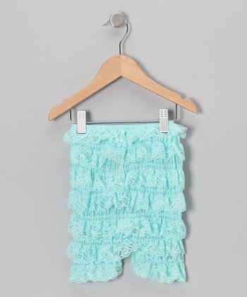 Aqua Lace Ruffle Shorts - Infant & Toddler