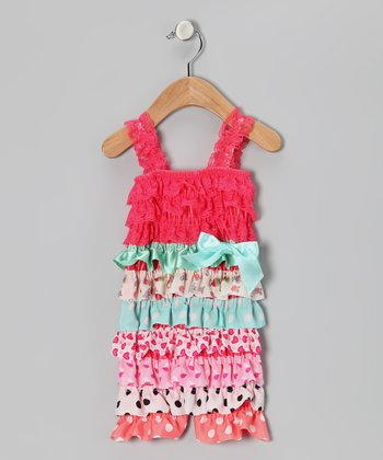 Strawberry Mix Print Ruffle Romper - Infant & Toddler