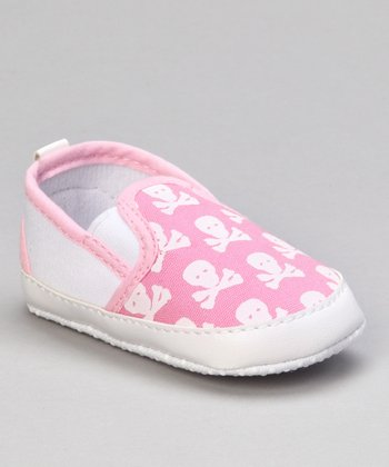 Pink & White Skull & Crossbones Booties