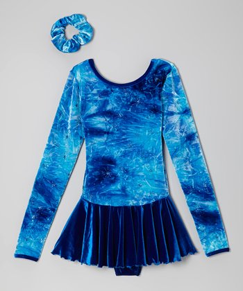 Ocean Fantasy on Ice Skating Dress & Hair Tie - Women