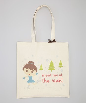 Natural 'Meet Me At The Rink' Tote