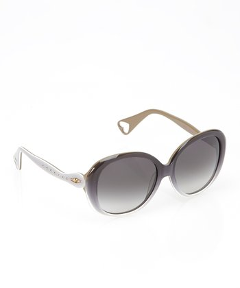 Betsey Johnson Smoke & White Cleopatra Sunglasses