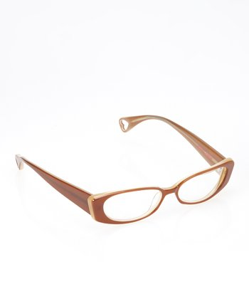 Betsey Johnson Espresso Heart Throb Eyeglasses