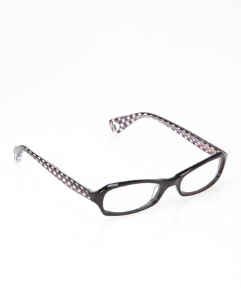 Betsey Johnson Raven Gingham Girl Eyeglasses