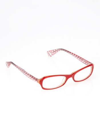 Betsey Johnson Cherry Gingham Girl Eyeglasses