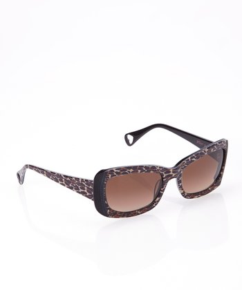 Betsey Johnson Cheetah Shady Lady Sunglasses