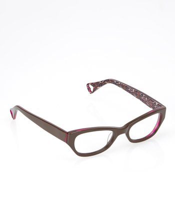 Betsey Johnson Espresso Jungle Queen Eyeglasses