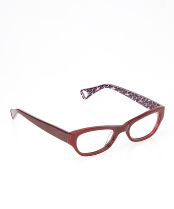 Betsey Johnson Burgundy Jungle Queen Eyeglasses