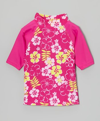Pink Sun Blossom Rashguard - Infant, Toddler & Girls