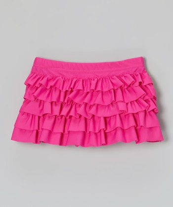 Pink Ruffle Swim Skirt - Toddler & Girls